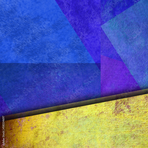abstract geometric blue and yelow background colorful color