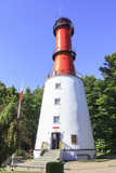 Lighthouse on the Baltic coast in Rozewie