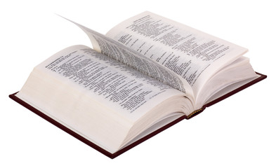 Close-up of the open Bible