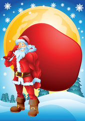Buff Santa with bag background