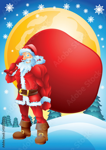 Buff Santa with bag background