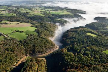 le Pays de Ménat vue du ciel en Auvergne
