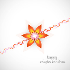 abstract rakshabandhan colorful white background