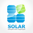 Vector logo solar energy