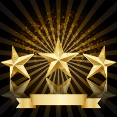 Gold star award  background