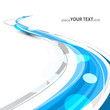 abstract bright blue colorful line stylish wave technology white