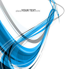 abstract blue colorful stylish wave technology background vector
