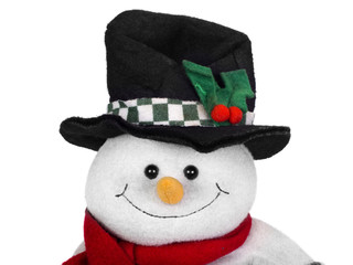 Stuffed snowman toy