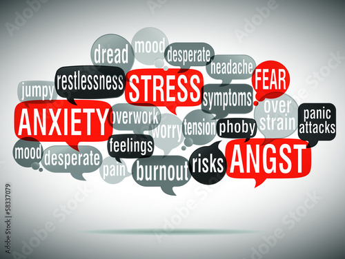 word cloud : stress anxiety angst (english) cs5