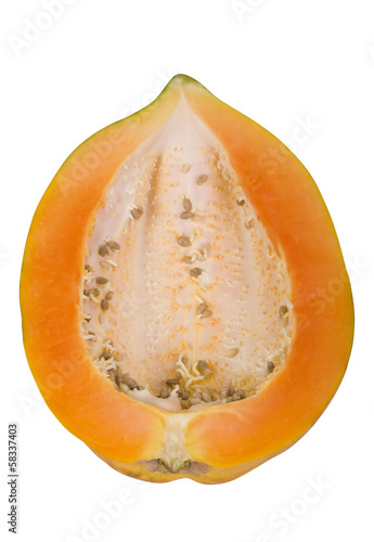 Close-up of a half of a papaya
