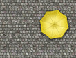 Man standing under an umbrella waiting for the change of weather