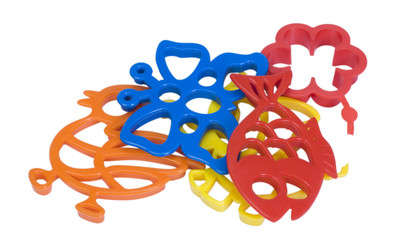 Close-up of toy clay molds