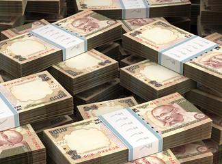 Stack of Indian Rupee