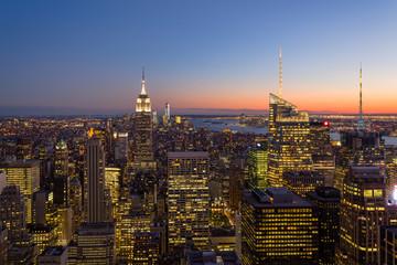 New-york coucher du soleil