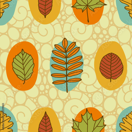 pattern autumn leaves