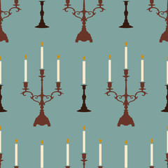 candles blue pattern