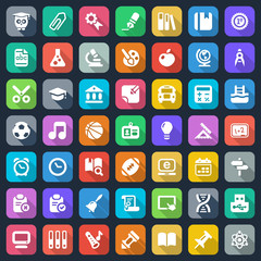 flat school iconset