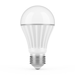 Modern LED lamp isolated on white background.