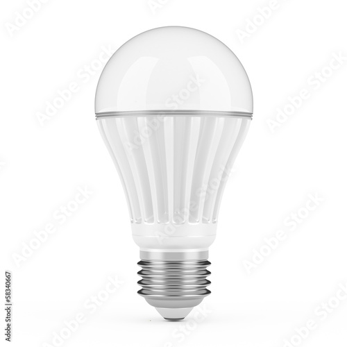 Modern LED lamp isolated on white background.