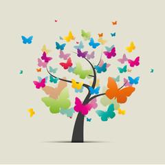 arbre et papillons