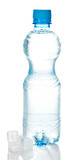 Plastic bottle with water poster