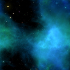 small stars in a sky on space color backgrounds