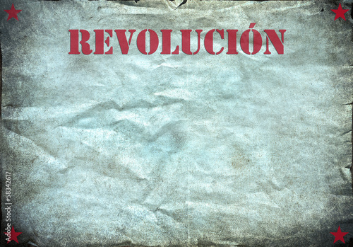 Vintage background, revolucion poster