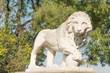 Lion statue around Vorontsov palace in Odessa