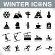Winter Icons Set - VECTOR - 58346084