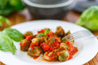 Brussels sprouts baked in tomato sauce