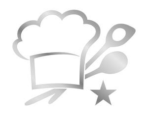 1 Sterne-Küche, Logo,silbern