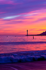 Magic Sunset in Cannes, Cote d'Azur, France