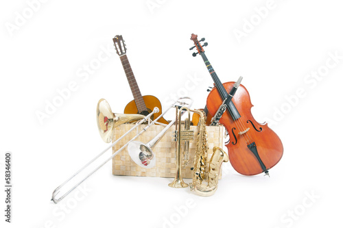a lot of musical instruments