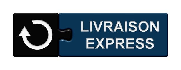 Puzzle-Button schwarz blau: Livraison Express