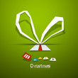 Abstract Vector Christmas Green Background