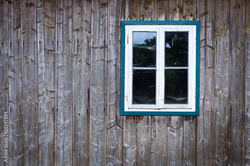 canvas print picture old window