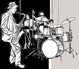 Fototapety Jazz band