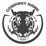 Tiger head silhouette, Vector, logo tamplate