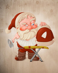 Santa Claus with flatiron