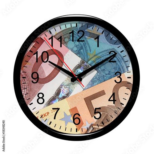 Horloge. Le temps c'est de l'argent