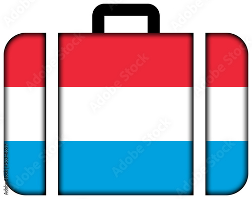 Suitcase with Luxembourg Flag