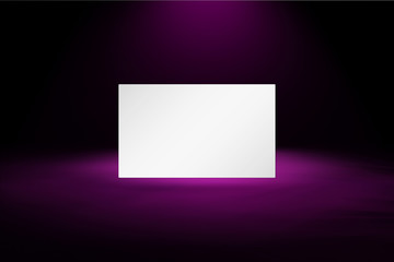 blank card on the texture background