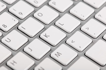 Close-up computer keyboard keys