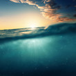 canvas print picture - Underwater Sundown
