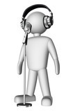 3d singer with microphone