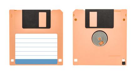 Cream floppy disk