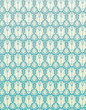 Seamless Pattern Blue Retro Damask Flower Background