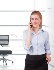 businesswoman using phone