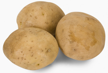 Close-up of raw potatoes