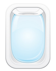 plane porthole vector illustration